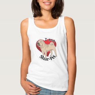 Camiseta Con Tirantes Amo mi perro divertido y lindo adorable feliz de