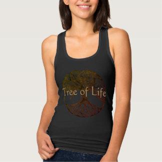 Camiseta Con Tirantes Árbol de la vida en negro