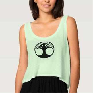 Camiseta Con Tirantes Árbol de la vida negro