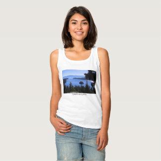 Camiseta Con Tirantes Bahía de la esmeralda del agua chispeante