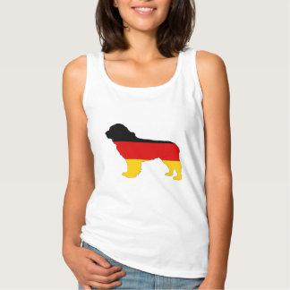 Camiseta Con Tirantes Bandera alemana - perro de Terranova