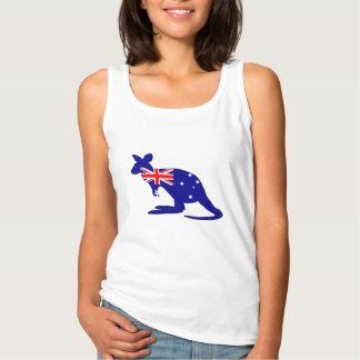 Camiseta Con Tirantes Bandera australiana - canguro