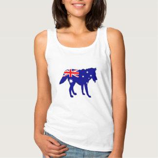 Camiseta Con Tirantes Bandera australiana - lobo