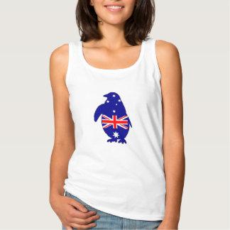 Camiseta Con Tirantes Bandera australiana - pingüino