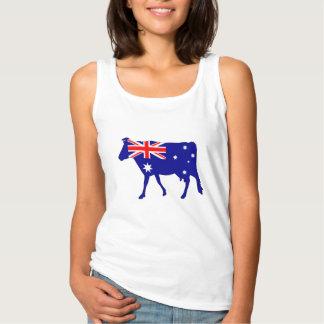 Camiseta Con Tirantes Bandera australiana - vaca