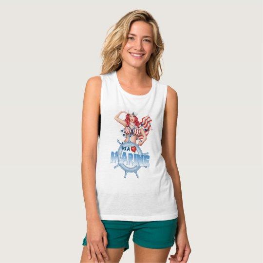 Camiseta Con Tirantes Bella de las mujeres MARINAS ATRACTIVAS de la