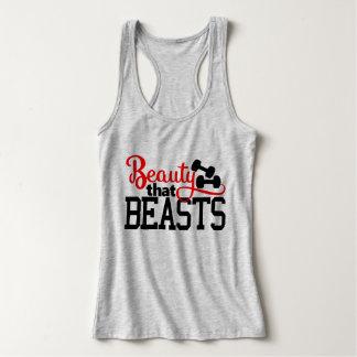 Camiseta Con Tirantes Belleza que bestias