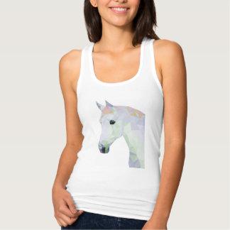 Camiseta Con Tirantes Caballo de neón colorido geométrico