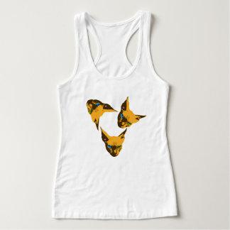 Camiseta Con Tirantes Cara sin pelo del gato del arte pop