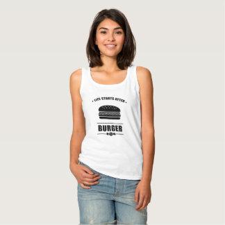 Camiseta Con Tirantes Comienzo de la vida después de la HAMBURGUESA