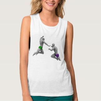 Camiseta Con Tirantes Concepto de los artes marciales para luchar y la