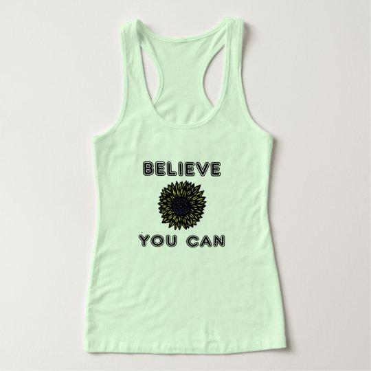 """Camiseta Con Tirantes """"Crea que usted puede"""" el tanque de Racerback del"""