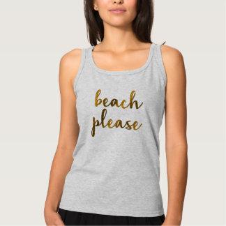 Camiseta Con Tirantes de la playa idea del regalo del fiesta del diseño