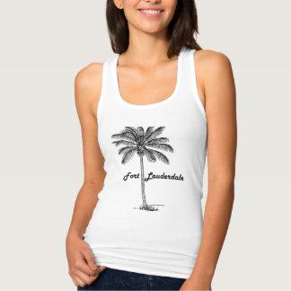 Camiseta Con Tirantes Diseño blanco y negro del Fort Lauderdale y de la