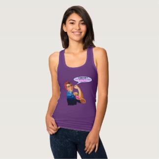Camiseta Con Tirantes Diseño de la caridad del cáncer de pecho de Rosie