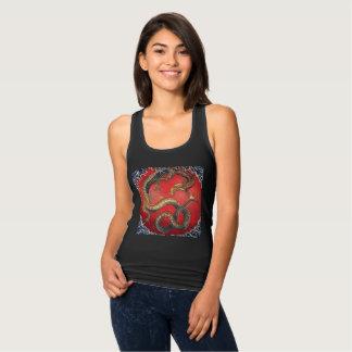 Camiseta Con Tirantes Dragón japonés