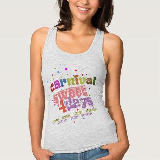 Camiseta Con Tirantes Dulce del carnaval 4 días (de editable)