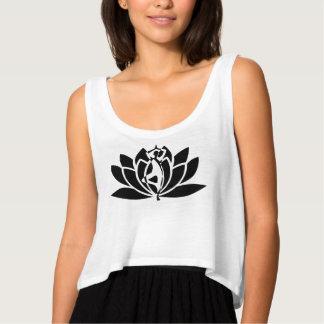 Camiseta Con Tirantes Ejercicio negro de la yoga de Lotus