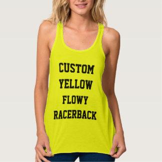 Camiseta Con Tirantes El TANQUE AMARILLO del RACERBACK de las mujeres