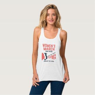 Camiseta Con Tirantes El tanque de las mujeres de marzo San Diego de las