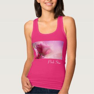 Camiseta Con Tirantes El tanque de Racerback de la estrella del rosa de