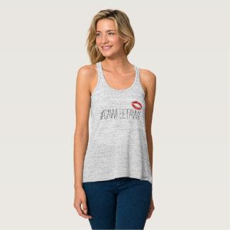 Camiseta Con Tirantes el tanque gris del #cawfeetawk con los labios