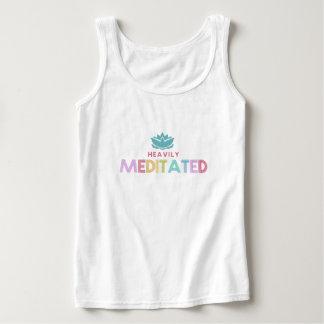 Camiseta Con Tirantes El tanque pesadamente Meditated de la yoga de la