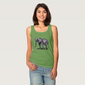 Camiseta Con Tirantes elefante con la flor