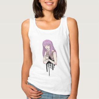 Camiseta Con Tirantes esqueleto en colores pastel de la sangre derramada