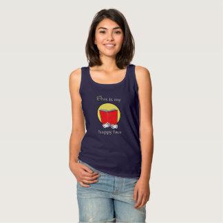 Camiseta Con Tirantes Ésta es mi cara feliz - Emoji que lee un libro
