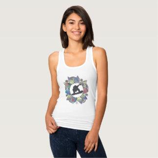 Camiseta Con Tirantes Flor de la montaña del Snowboarder