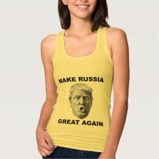 Camiseta Con Tirantes Haga Rusia grande otra vez
