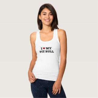 Camiseta Con Tirantes I corazón mi pitbull