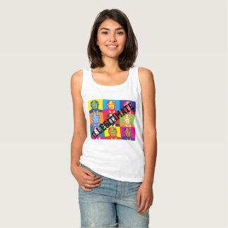 """Camiseta Con Tirantes """"Ilegítimo"""" con las caras coloreadas arco iris del"""