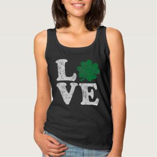 Camiseta Con Tirantes Irlandés del trébol del AMOR del día de St Patrick