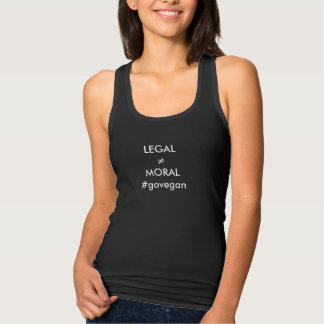 Camiseta Con Tirantes legal no significa su moraleja