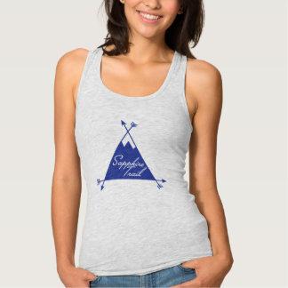 Camiseta Con Tirantes Logotipo del rastro del zafiro