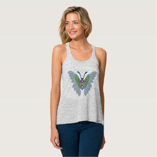 Camiseta Con Tirantes Mariposa azul y rosada