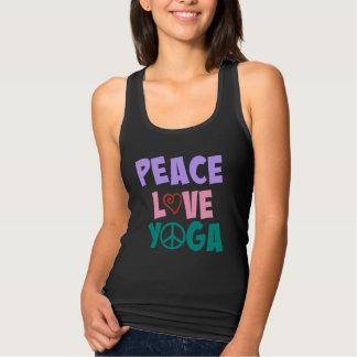 Camiseta Con Tirantes Mujeres de la yoga del amor de la paz cabidas