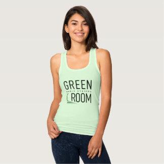 Camiseta Con Tirantes Música para mujer del sitio del verde de las