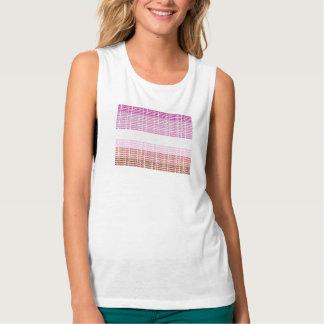 """Camiseta Con Tirantes """"No derecho"""" bandera lesbiana"""