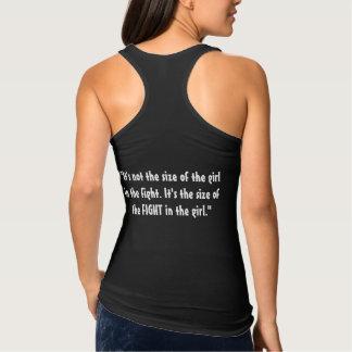 """Camiseta Con Tirantes """"No es el tamaño del chica en la lucha. """""""