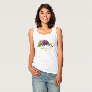 Camiseta Con Tirantes Nombre púrpura ID456 de la dama de honor del Swag