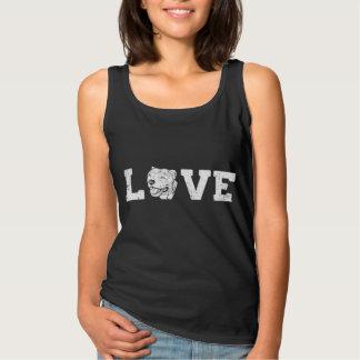 Camiseta Con Tirantes Perro del pitbull del amor