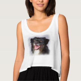 Camiseta Con Tirantes Pintura del perro - arte del perro - acaricie el