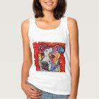 Camiseta Con Tirantes Pitbull cósmico - colorido brillante - idea del