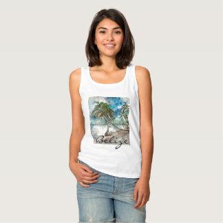 Camiseta Con Tirantes Playa en el Ambergris Caye Belice
