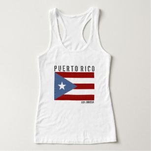 Camiseta Con Tirantes Puerto Rico Boricua
