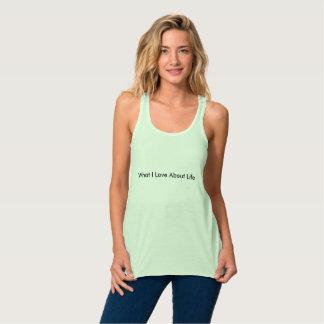 Camiseta Con Tirantes Qué amo sobre vida