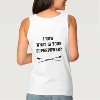 Camiseta Con Tirantes ¿Remo cuál es su superpotencia? El tanque